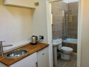 Family Suite Kitchenette & Bathroom